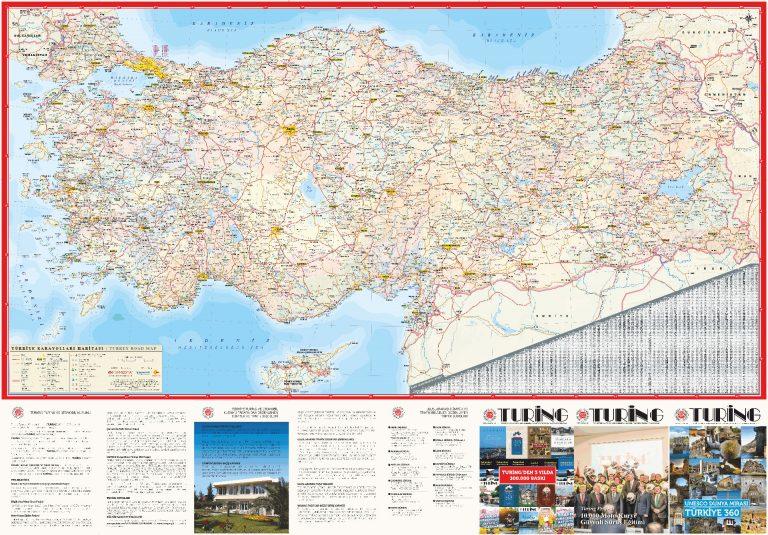Turing Türkiye Karayolları Haritası